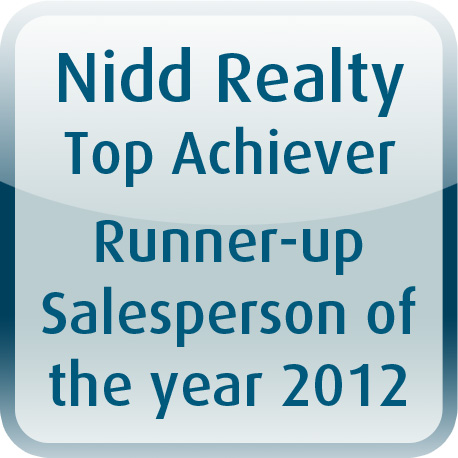 2012 Runner Up Salesperson of the year