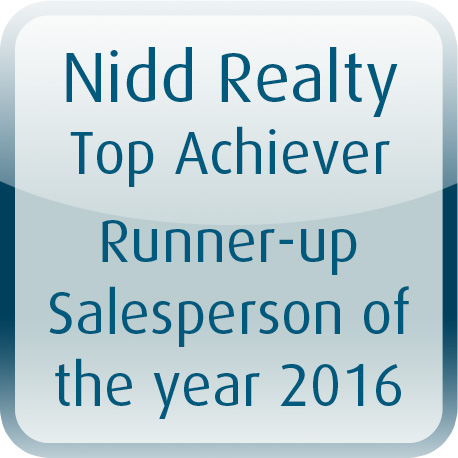 2016 Runner Up Salesperson of the year