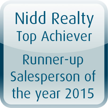 Runner Up Salesperson of the Year 2015